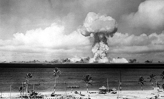 Able atomic bomb test, Bikini Atoll, 1 July 1946.